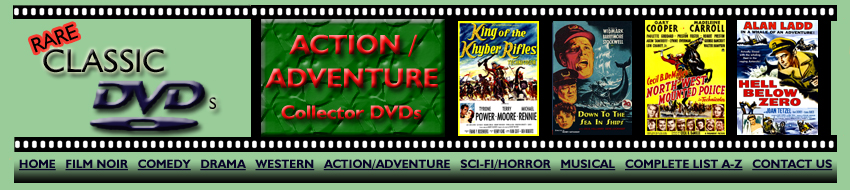 Action/Adventure Collector DVDs